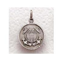 "US Coast Guard Sterling Silver Military Medal (20"" chain) SM8469SH"
