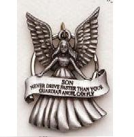 Son Guardian Angel Pewter Key Chain SK304