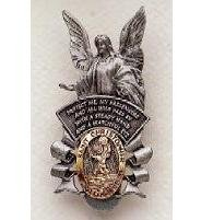 Guardian Angel/St. Christopher Pewter Auto Visor Clip SA2893