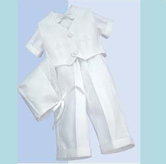 Baptism 5 Pc. Suit Ensemble  Size 3-6 months (12-18 lbs) DB5904.3