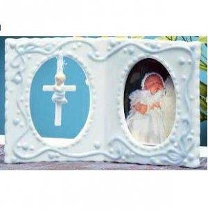Girl Baptism Photo Frame Pink (Boy Frame shown) 94209