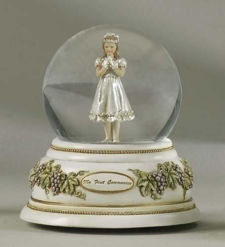 St. Joseph's Studio First Communion Musical Glitterdome - Girl