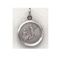 "Girls Softball - Sterling Silver Sports Medal (20"" chain) SM0957SH"