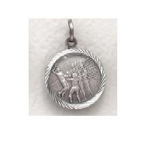 "Girls Volleyball - Sterling Silver Sports Medal (20"" chain) SM0960SH"