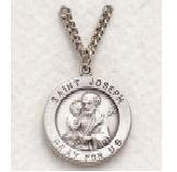 "St. Joseph Sterling Silver Medal (20"" chain)  SM0224SH"