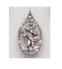 "St. Christopher Sterling Silver Medal (18"" chain) SM0516SH"