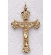 "Ladies 14K Gold Filled Crucifix (20"" chain) SX7847GH"