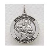 "St. Matthew Sterling Silver Medal (24"" chain) SM8214SH"