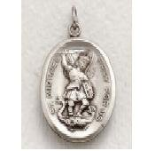 "St. Michael/Guardian Angel Sterling Silver Medal (24"" chain) SM8540SH"