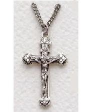 "Boys Sterling Silver Crucifix (20"" chain) SX8600SH"