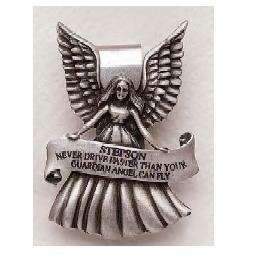 Stepson Guardian Angel Pewter Auto Visor Clip SA2995