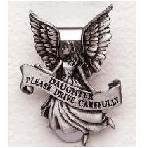 Daughter Pewter Auto Visor Clip SA2896