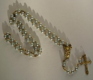 LIGHT BLUE ROSARY CC684