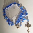 "BLUE ""MARBLED"" ROSARY RS108"