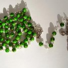 GREEN/BLACK ROSARY RS109