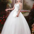 Wholesale Elegant Ivory Halter-neck Ball G Dress D60411