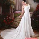Elegant Ivory Spaghetti Train Wedding Dress D60337