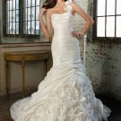 Noble One-Shoulder Mermaid Trumpet Chapel Train Wedding Dress D63820