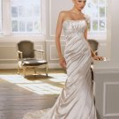 Luxurious Strapless Mermaid Trumpet Hi-Lo Wedding Dress D63833