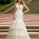 wholesale Sexy Halter-Neck Mermaid Trumpet Floor Length Wedding Dress D63825