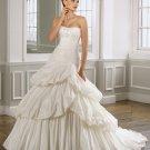 Elegant Strapless Ball Gown Floor Length Wedding Dress D63832