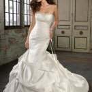 Amazing Strapless Mermaid Trumpet Hi-Lo Wedding Dress D63813