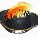 Stylish Feather Decoration Caribbean Pirate Captain Hat D65542