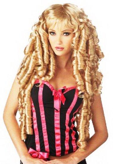 Masquerade Women's Gold Long Curly Hair Wig D65650