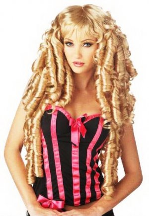 Masquerade Women&#039;s Gold Long Curly Hair Wig D65650