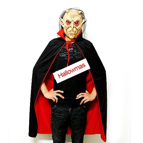 Halloween Adult Two-side Wearable Cloak With Mask D65602