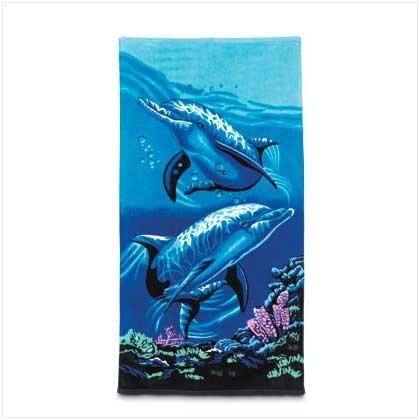Beach Towel Dolphins # 36020
