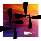 Aluk 1, 8 x 10 Print, Abstratct Digital Fine Art Image Photo, Gold Silver Black Chrome