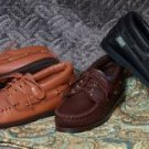 Womens Deertan Leather Lace-Up Casual Shoes Cushion Insoles Handcrafted USA