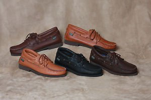 Mens Deertan Leather Lace-Up Shoes Crepe Soles Cushion Insole Size 6-13 Made USA