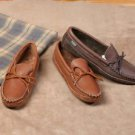 Mens Cowhide Leather Canoe Sole Moccasins Leather Sole Cushion Insoles Size 6-13