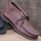 Mens Boots Lace-up Chukka Cowhide Leather Cushion Insoles Sizes 6-13 Made USA