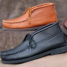 Mens Lace Up Chukka Boots Deertan Leather Cushion Insole Sizes 6-13 Made in USA