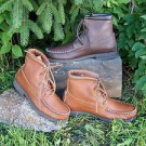 Mens Cowhide Walking Boots Crepe Soles Cushion Insoles Arch Support Made USA