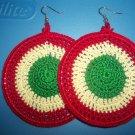 Rasta Earrings - Red, Yellow, Green