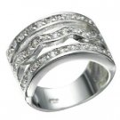 Rhodium Plated Brilliant Clear Cz Ring