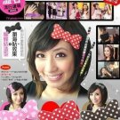 Bow Hair Velcro (Red)