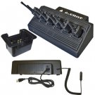6-Shot 6-Unit Battery Charger for all Popular Radios