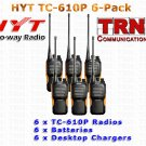 UHF - HYT TC-610P 5 Watt 16 Channel Portable Radio 6-PACK