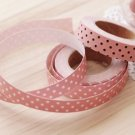 Pink with Brown Dot Fabric Deco Tape