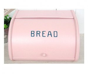 Pink Tin Bread Storage