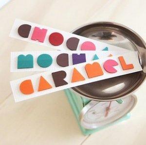 Coffee Set Tab Stickers