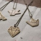 Retro Origami Necklace
