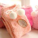 Soft Pom-Pom Towel Socks