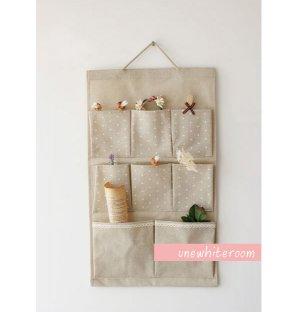 Hanging Cotton Pocket Storage Bag