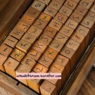 Handwriting Alphabet Stamps - 70 pcs